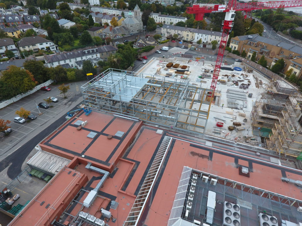 Frascati Shopping Centre Phase 1 Progress Steel And